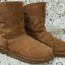 UGG Australia Ladies Boots Size 6 US Brown Remora Back Buckle