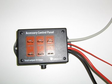 EZGO, Club Car Golf Cart Universal Control Panel with 3 switches for Golf Cars �