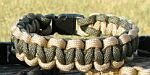 7 Inch Desert Tan & Olive Drab Paracord Bracelet