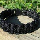 8 Inch Black Paracord Bracelet