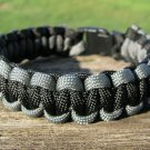 8 Inch Black & Gray Paracord Bracelet