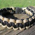 9 Inch Tan & Black Paracord Bracelet
