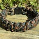 8 Inch Woodland Camo (BDU) Paracord Bracelet