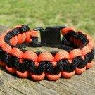 8 Inch Black & Orange (Harley Davidson) Paracord Bracelet