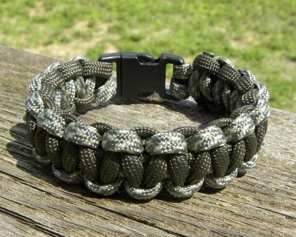 8 Inch ACU & Olive Drab Paracord Bracelet