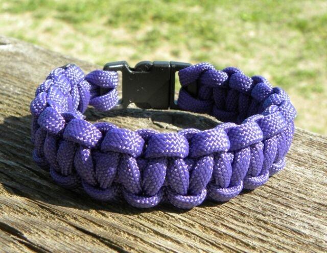 8 Inch Purple Paracord Bracelet