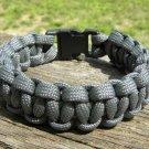 9 Inch Gray Paracord Bracelet