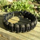8 Inch Black & Olive Drab Paracord Bracelet