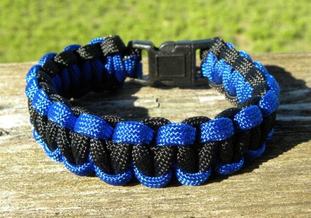 9 Inch Black & Blue Paracord Bracelet