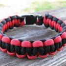 7 Inch Black & Red Paracord Bracelet