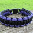 9 Inch Black & Purple Paracord Bracelet