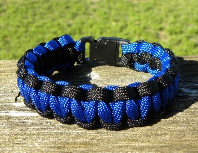 8 Inch Blue & Black (Law Enforcement) Paracord Bracelet