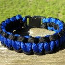 9 Inch Blue & Black (Law Enforcement) Paracord Bracelet