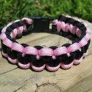 7 Inch Black & Pink Paracord Bracelet