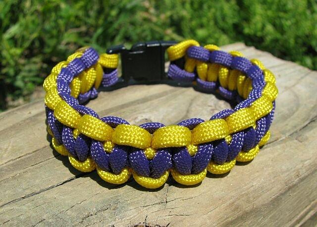 7 Inch LA Lakers Theme Paracord Bracelet