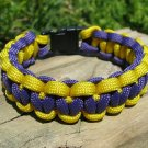 9 Inch LA Lakers Theme Paracord Bracelet