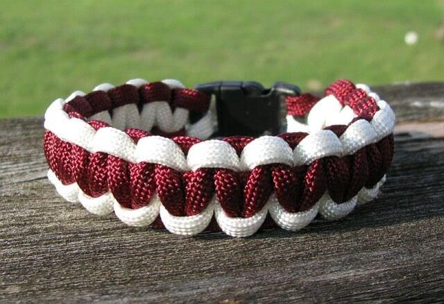 7 Inch Texas A&M Themed Paracord Bracelet