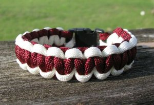 7 Inch Texas A&M Themed Paracord Bracelet