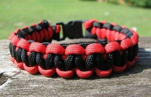7 Inch Texas Tech Themed Paracord Bracelet
