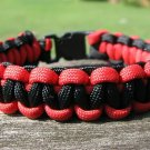 9 Inch Texas Tech Themed Paracord Bracelet