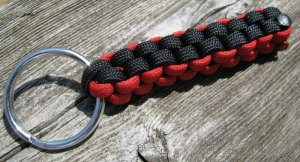 Black & Red Paracord Key Chain
