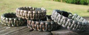 Set of 4 Camo Paracord Bracelets