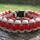 9 Inch Red & Silver Paracord Bracelet