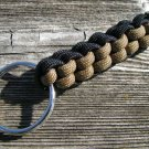Black & Brown Paracord Key Chain