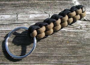 Black & Brown Paracord Key Chain