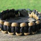 9 Inch Black & Brown Paracord Bracelet