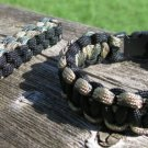 7 Inch Multi Camo/Black Paracord Bracelet & Key Chain