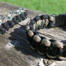 8 Inch Multi Camo/Black Paracord Bracelet & Key Chain