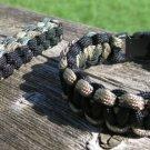 9 Inch Multi Camo/Black Paracord Bracelet & Key Chain