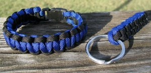 9 Inch Police Paracord Bracelet & Key Chain