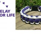 7 Inch Purple & White (Relay For Life) Paracord Bracelet