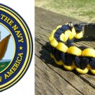 7 Inch - Blue & Yellow (US Navy) Paracord Bracelet