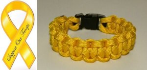 7 Inch Yellow (Support The Troops) Paracord Bracelet