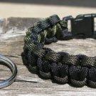 7 Inch Black & OD Paracord Bracelet & Key Chain