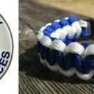 9 Inch Blue & White (EMS) Paracord Bracelet