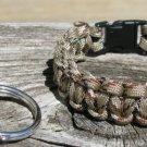 7 Inch Desert Camo Paracord Bracelet & Key Chain