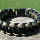 9 Inch Black & Multi Camo Paracord Bracelet