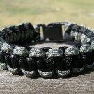 7 Inch ACU & Black Paracord Bracelet