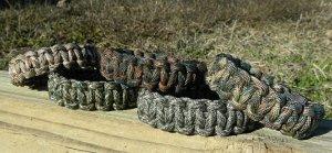 Set of 5 Camo Paracord Bracelets