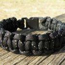 8 Inch Black Reflective Paracord Bracelet