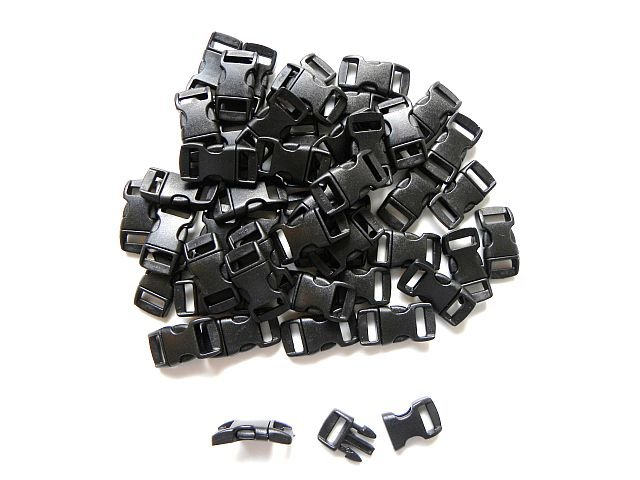 "500 3/8"" Black Side Release Buckles"