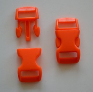 "50 3/8"" Orange Side Release Buckles"