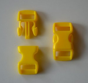 """25 3/8"""" Yellow Side Release Buckles"""
