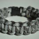 7 Inch Gray Camo Paracord Bracelet