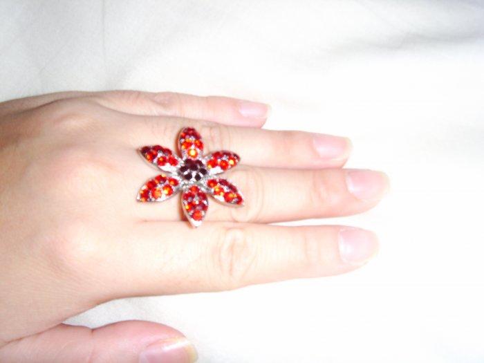 not too oversized flower ring