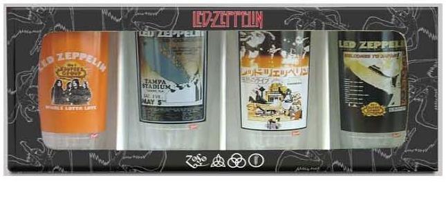 Led Zepellin Logo Pub Glasses